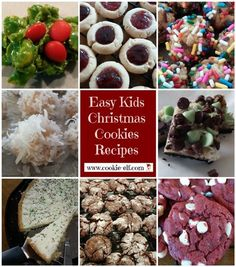 Get these 8 Easy Kids Christmas Cookies Recipes – a collection of favorite cookie recipes from The Cookie Elf for kids, families, or anyone who wants to bake cookies for Christmas. Italian Cookie Recipes, Cake Mix Cookie Recipes, Chocolate Cookie Recipes, Cake Mix Cookies, Fun Cookies, Chocolate Cookies, Baking Cookies, Delicious Cookies, Oatmeal Cookies