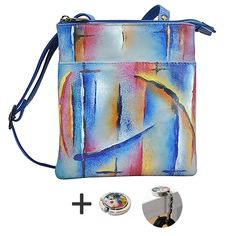 43656d0f4 Anuschka RFID Blocking Travel Bag - Triple Compartment - Handpainted Leather  -- Want to know