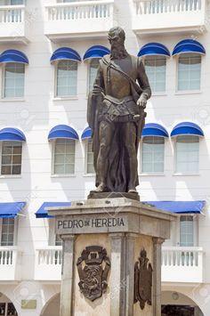Pedro de Heredia, Plaza de los Coches, Cartagena, Colombia.