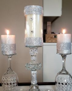 Perfect Decor for any Elegant Event Elegant Glass Centerpiece Candle Holder 17 inch Wedding Elegant Centerpieces, Glass Centerpieces, Vases Decor, Wedding Centerpieces, Wedding Decorations, Wedding Favours, Christmas Decorations, Wine Glass Crafts, Decorated Wine Glasses