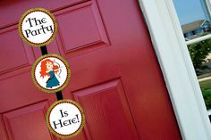 Welcome Door Sign Printable - Disney Brave Princess Birthday Party Baby Shower Line - STYS on Etsy, $6.50
