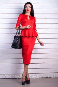 Эффектное платье 2015 красного цвета купить недорого с доставкой по  Украине. платья женские от
