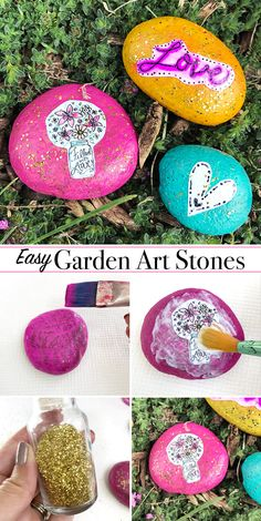 Easy Decorative Garden Stones - make your own for your yard today!