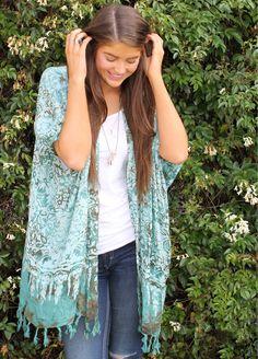 Bijou - Agave Pastel Kimono