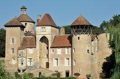 Chateau deSercy en Saône-et-Loire en Bourgogne-Franche-Comté, France