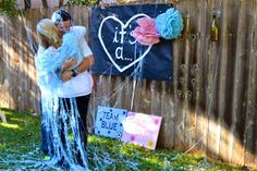 Silly String Gender Reveal!