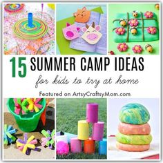 Summer camps may be cancelled but fun isn't! Have your own DIY staycation this summer with these easy ideas to plan an awesome summer camp at home for kids. Name Activities, Outdoor Activities For Kids, Summer Activities, Summer Camps For Kids, Summer Kids, Craft Projects For Kids, Crafts For Kids To Make, Diy Ideas, Craft Ideas