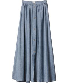 Lush Deserts Skirt #W6K02LUS $54.00  The RVCA Lush Deserts is a chambray full maxi skirt with a set-in waistband at the natural waistline. The skirt has a center front button down placket that stops just above the knee, pockets at the side seams, and a RVCA flag label at the left side seam.           100% cotton  Colors: INDIGO