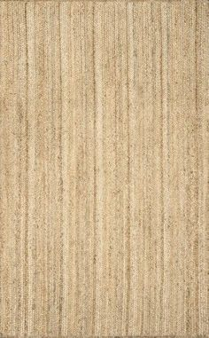 Rigo Jute Natural 5 ft. x 8 ft. Area Rug, Beige