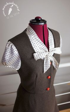 Vest: made by me ( #126, Burda 10/2011) Skirt: made by me (#108, Burda 12/2012) Wool: Allegro Buttons: modneguziki.pl  #60s #retro