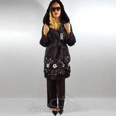 RUNWAY SWAKARA FUR COAT Pelz Mantel Kapuze Persianer Breitschwanz Blogger NEU  | eBay