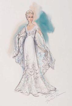 Diseño de vestuario por Helen Rose para Grace Kelly en The Swan (1956). Profiles in History