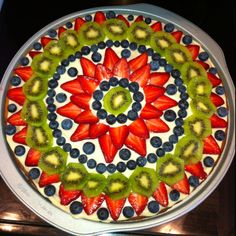 Fruit pizza i made!