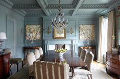 Beautiful color from Farrow and Ball. Does anyone know what color this is or the designer?