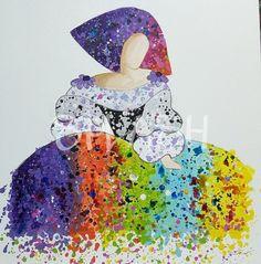 Menina moderna salpicada de color 1 SP756 Easy Canvas Painting, Artist Painting, Modern Art, Art Painting, Drawings, Art Projects, Painting, Art, Art Pictures
