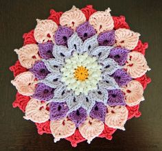 Enchanted Garden Pink #Crochet Flower by Keito Palette