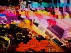 """""""Impressões Digitais"""" , Orlando Casco, foto digital, 2012. parte da 1º exposição da Galeria Pássaro.  As fotos da série """" Impressões Digitais"""" captam os momentos em que aparelhos eletrônicos apresentam distorções de imagens. Não há manipulação, é um registro das """"falhas"""" , das composições aleatórias das transmissões digitais."""