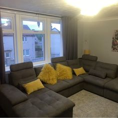 17 Stories Thom Corner Sofa & Reviews | Wayfair.co.uk Corner Sofa Living Room Layout, Living Room Sofa, Beautiful Homes, Sofas, Couch, Furniture, Home Decor, House Of Beauty, Couches