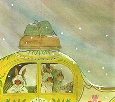 illustration by Adrienne Adams from The Easter Egg Artist (1976)