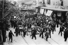 Μάης 1936 - Η πορεία των απεργών καπνεργατών