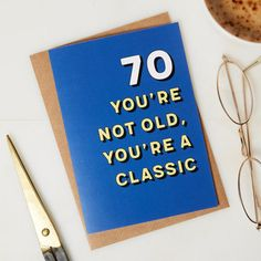 70th Birthday card 70th Birthday Birthday card 70 years