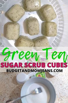 Directions Mix the sugar and green tea leaves in a bowl Then add the coconut oil and mix until well combined Spoon your green tea sugar scrub into the ice tray and press down to make it firm Pour some more (about 1/4 of a tsp) coconut oil on the scrub cubes to make sure it sets well at the bottom #greenteascrub #diysugarcsrub #diygreenteascrub #greenteasugarscrub #sugarscrubbars