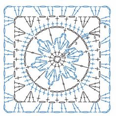 Crochet Square Patterns Crochet Patterns – Examples Part 20 - Crochet Examples Crochet Squares, Point Granny Au Crochet, Granny Square Crochet Pattern, Crochet Blocks, Crochet Diagram, Crochet Stitches Patterns, Crochet Chart, Crochet Motif, Crochet Designs