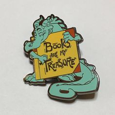 books are my treasure enamel pin