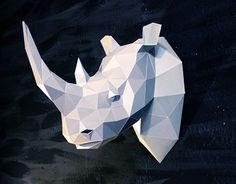 "Check out new work on my @Behance portfolio: ""Papercraft rhino head"" http://be.net/gallery/35331809/Papercraft-rhino-head"