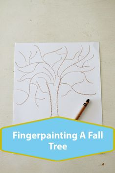 Fingerpainting a Fall Tree. An easy art project for kids. Craft Activities, Preschool Crafts, Toddler Activities, Christmas Tree Painting, Easy Art Projects, Paper Crafts, Diy Crafts, Finger Painting, Crafts For Girls