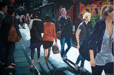 'A Melbourne alleyway' Acrylic on canvas, 2015 by Neli Seumanutafa
