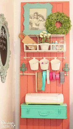 Beautiful craft room designs, organization, trunk, farmhouse style, fun colors
