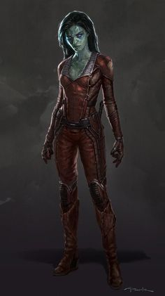 Gamora Concept Art from GUARDIANS OF THE GALAXY - artist Andy Park