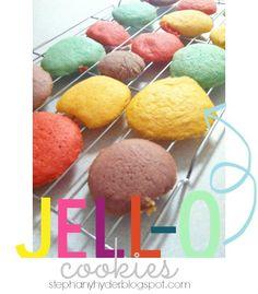 Lemonade Jello Cookies and baking with kids