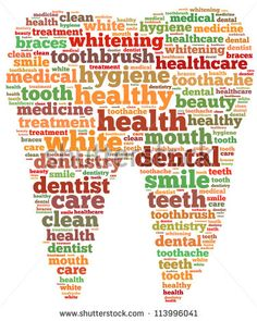 word art tooth | Teeth and dentist info-text graphics and arrangement concept on white ...