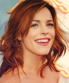 Do I dare lose my blonde & go copper??  Rachel McAdams Love the copper hair.
