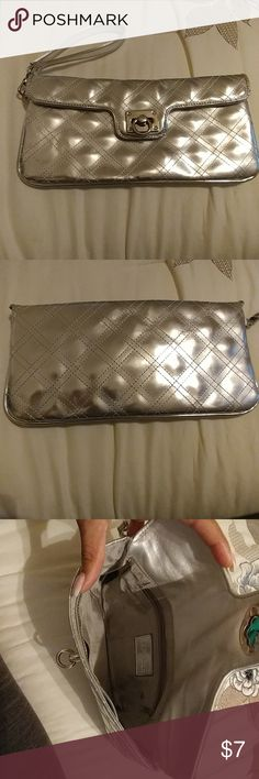 Silver clutch from Express Cute clutch perfect for date night or GNO Express Bags Clutches & Wristlets