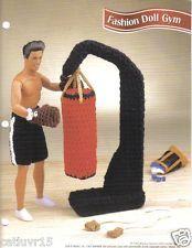 """Fashion Doll Crochet Pattern """"Fashion Doll Gym"""" ~ for 12"""" Male Fashion Doll"""
