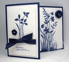 Cards / card in navy