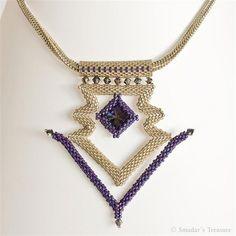 Structural peyote necklace by Smadar's Treasure, via Flickr