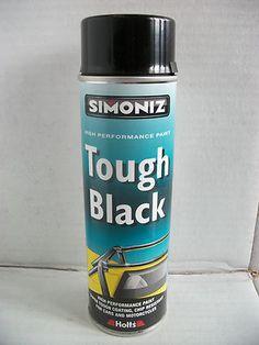 SIMONIZ MOTORCYCLE PAINT GLOSS BLACK TOUGH FRAME WHEEL TANK SUZUKI YAMAHA HONDA Bobber Parts, Bike Parts, Motorcycle Paint, Black Spray Paint, Isle Of Wight, Isle Of Man, Bobbers, Choppers, Painting Frames