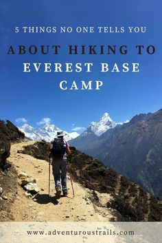 5 Things No One Tells You About #Hiking To Everest Base Camp   Hiking Everest Base Camp   Everest Base Camp   Climbing Everest   Hiking EBC Solo   Hiking Everest Base Camp Solo   Hiking Himalayas   Climbing Seven Summits   Climbing Everest   Mountain Climbing   Mountain Inspiration   Travel Asia   Backpacking Nepal   Backpacking Asia  Hiking Everest Base Camp   Climbing Everest   Trekking in Nepal   Hiking In The Himalayas   Climbing Mountains   Adventure Travel   Student Flights