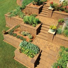 way to start thinking about the backyard. traditional landscape by Versa-Lok Retaining Wall Systems Terraced Landscaping, Landscaping Tips, Garden Games, Modern Garden Design, Traditional Landscape, Contemporary Landscape, Chinese Landscape, Traditional Chinese, Terrace Garden