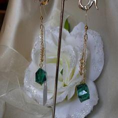 Boucles-d'oreilles cristal et plaqué or ref d 471