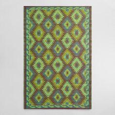 One of my favorite discoveries at WorldMarket.com: 4'x6' Green Diamond Urban Indoor Outdoor Floor Mat