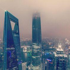 Shanghai's tripple supertalls. Love them all!