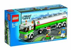 LEGO® City Tank Truck LEGO City Tank Truck pcs) 3180 Life comes to a standstill in the LEGO city without LEGO City Tank Truck.Ferry gas to the gas station with a mini truck driver figure who fills the fuel with two ex. Lego City Fire Station, Gas Station, Mini Trucks, Toy Trucks, Lego Truck, Legos, Lego Wheels, Lego Club, Lego City Police