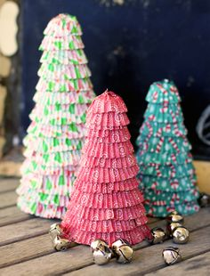 Make your house festive with DIY Christmas trees made out of cupcake liners. Find this and other holiday craft ideas on Simply Create.