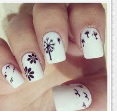 Diseño a blanco y negro de flores