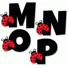Silueta tienda de diseño - Vista Diseño # 78495: Alfabeto de la mariquita - mnop